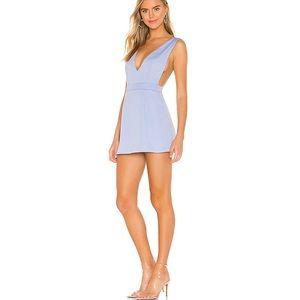 REVOLVE SUPERDOWN Kaelyn Pinafore Dress BLUE